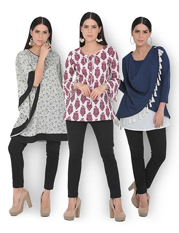 Pack of 3 Dressy Top