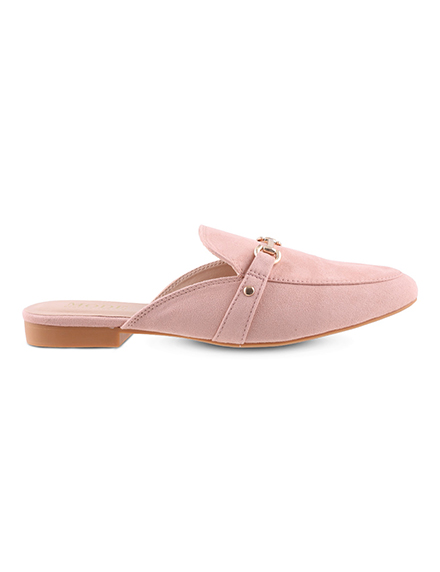 Mode by Red Tape Women Pink Solid Canvas Mules