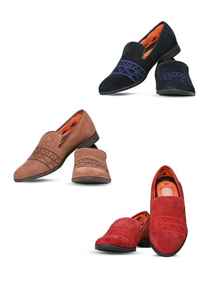 Pick Any 1 - Designer Suede Shoes by Delhi Derby