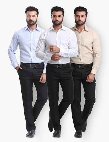 Pack of 3 Khadi look Shirts
