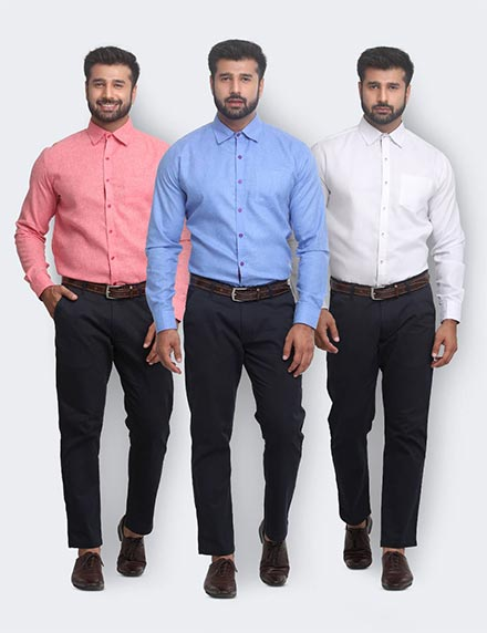 Pack of 3 Slub Shirts by Conestilo