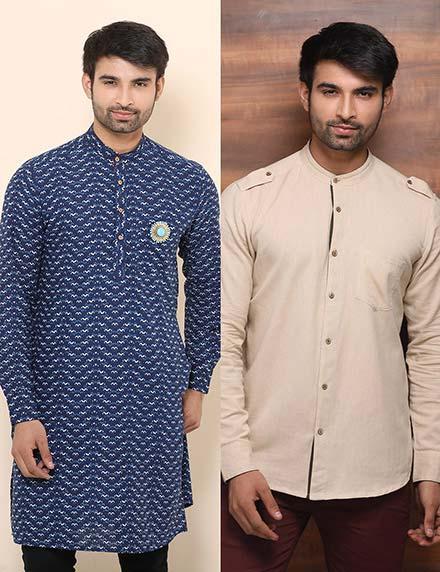 Mandarin Collar Kurta + Shirt