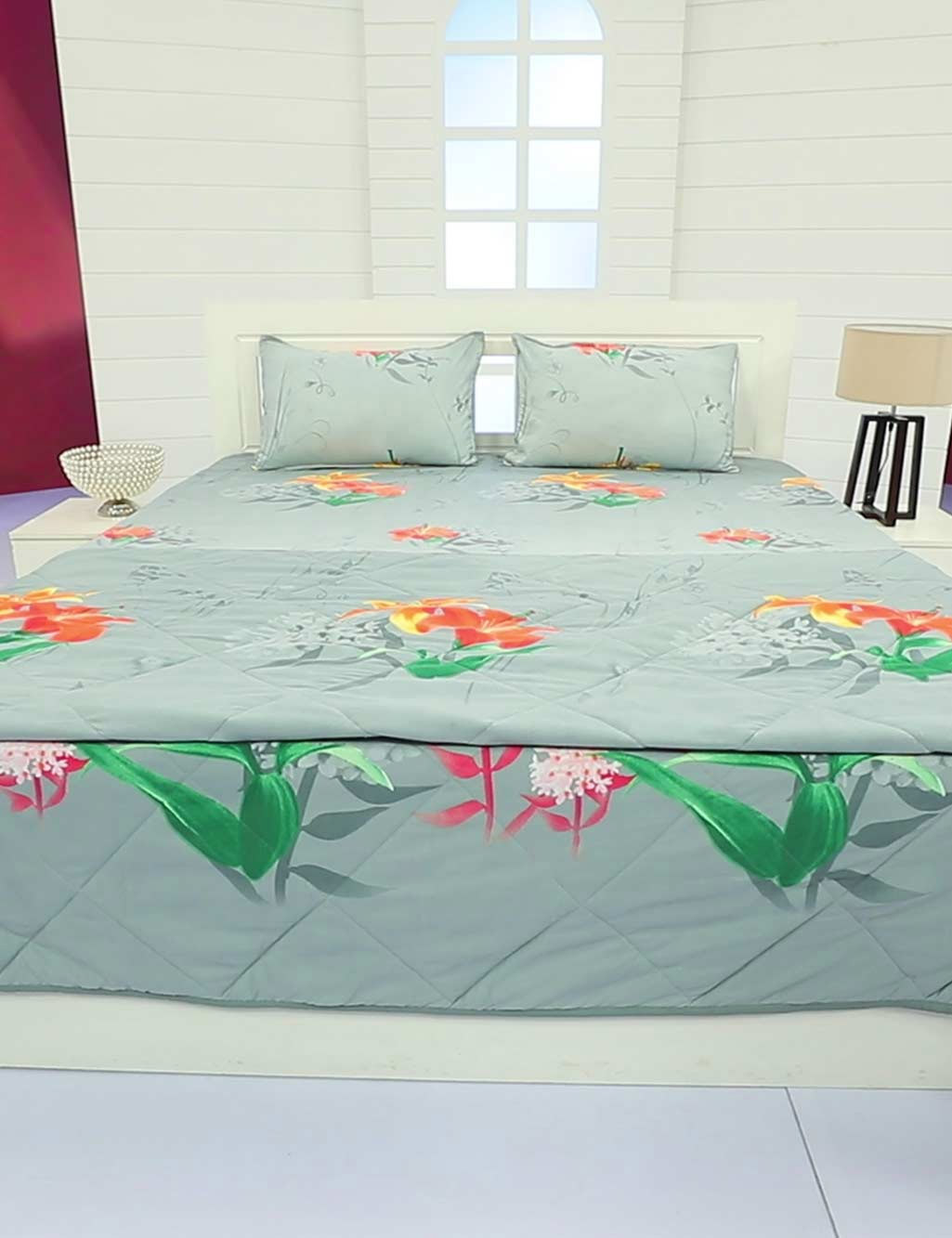 Pick Any 1   Double Bed Comforter With Matching Bed Sheets + 2 P