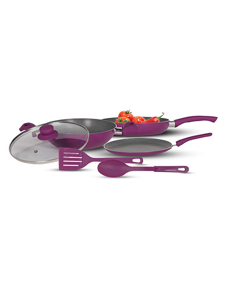 Pringle 3 Pc. Lavender Non Stick Cookware Set
