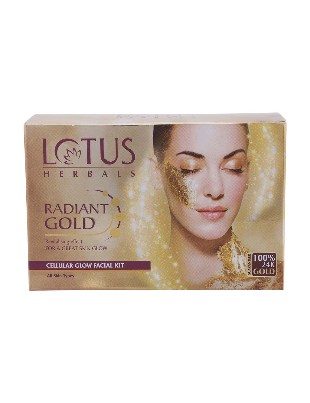 Lotus Herbals 4 Natural Glow Facial Kit 4 Radiant Gold