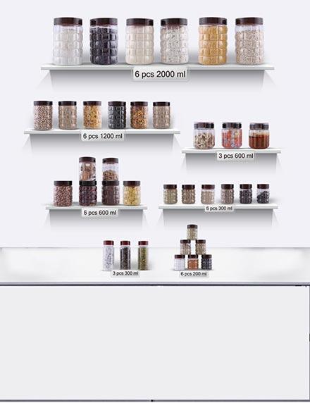36 Pc. Kitchen Storage Solution
