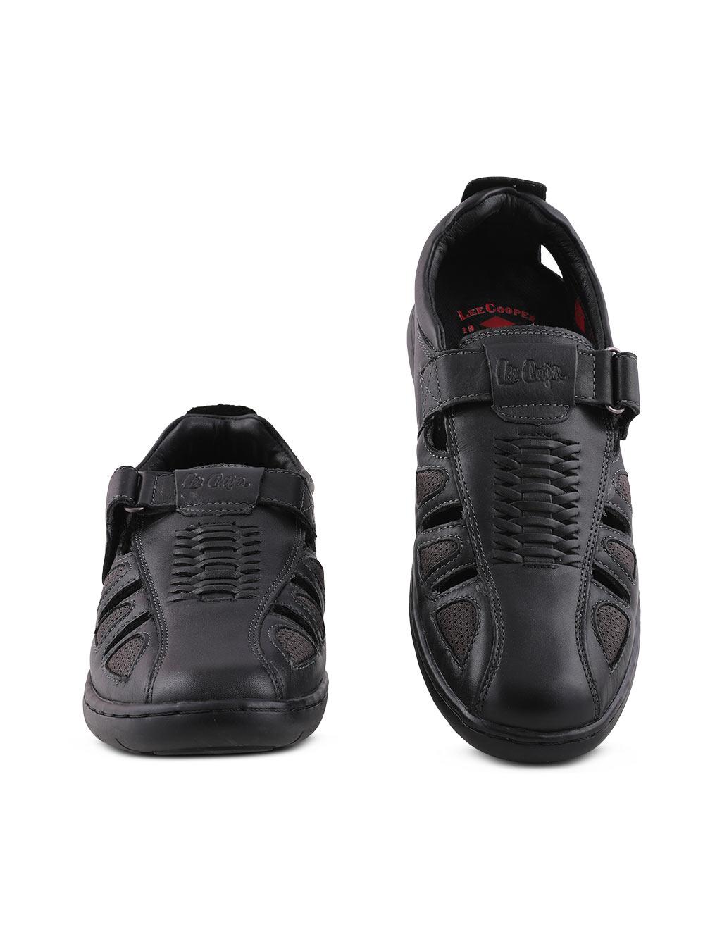 6b19d890ba89a Lee Cooper Men s Black Sandals - Buy Online at Best Prices