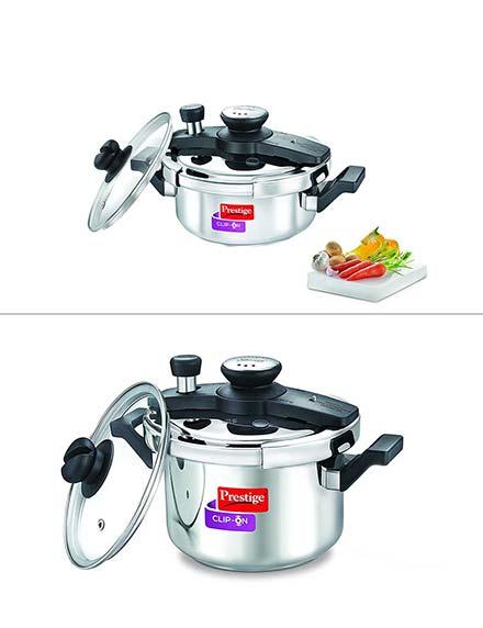 Pick Any 1 - Prestige Clip-on Pressure Cooker ( 3Ltr. & 5Ltr.)