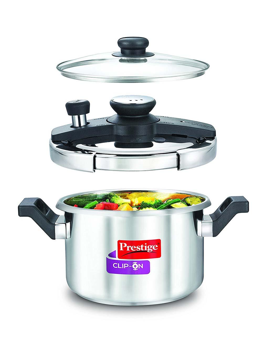 3lt. Clip On Pressure Cooker by Prestige| EZMall