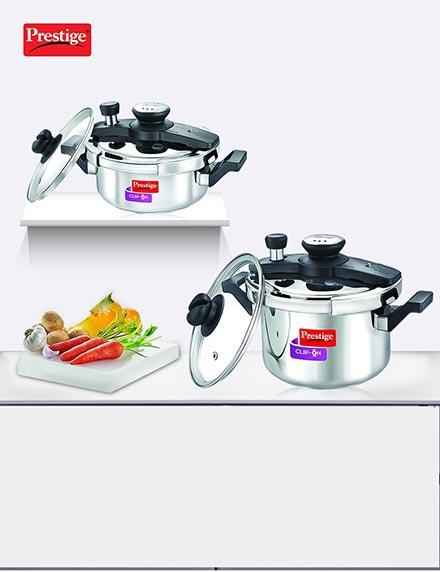 Prestige Clip on Pressure Cooker 3Ltr. & 5Ltr.