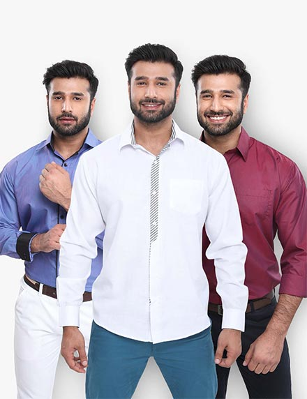 Pack of 3 Designer Shirts by Conestilo