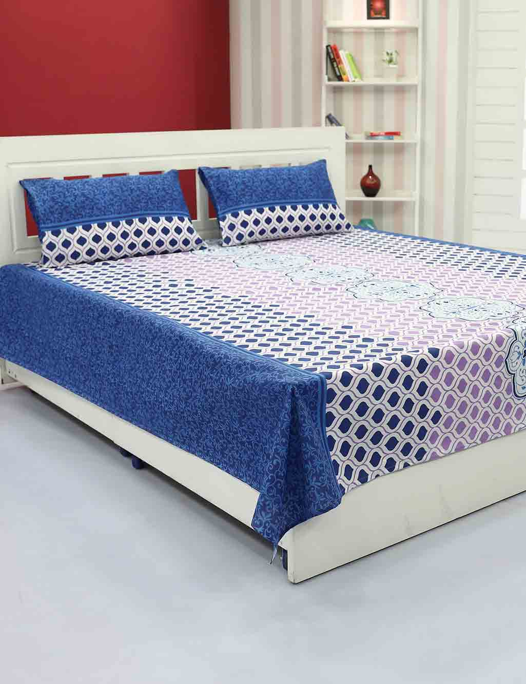5 Cotton Double Bed Sheets U0026 10 Pillow Covers By Vorhang