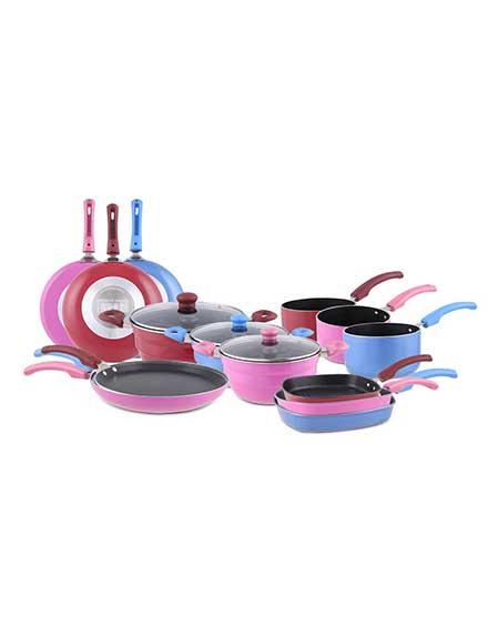 Uniqraft Multi kadai with 5 Pc NonStick Cookware set