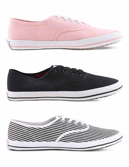 Pack of 3 Women's Canvas Shoes by Desi Motifs